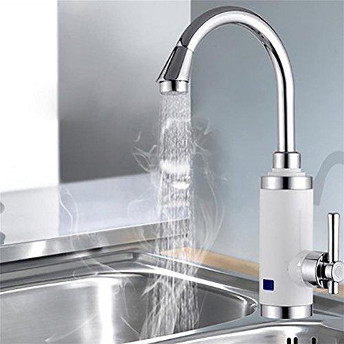 Doppel-wand-wasser (Sofortiger HeißEr Wasser-Hahn 220V HeißWasser-Heizungs-Einzelne Handgriff-KüChe HeißEr Und Kalter Doppel-Gebrauch Digital-Anzeigen-Temperatur-KüChe-Schatz , White)