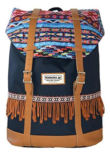 Senfort Hippie Boho Chic Mochila Infantil, 45 cm, Azul