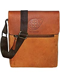 Style98 100% Hunter Leather Handmade Stitched Unisex Sling Bag For Men,Women,Boys & Girls - B06XY3DPDD