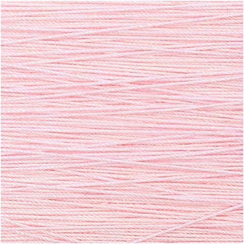 Rico Design 5g Spitzengarn - Farbe: 003 - rosa - Häkelgarn für Taschentücher