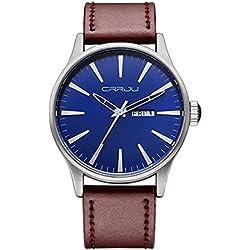 Longqi Mens Business Quartz Watches Fashion Casual Waterproof Wristwatch