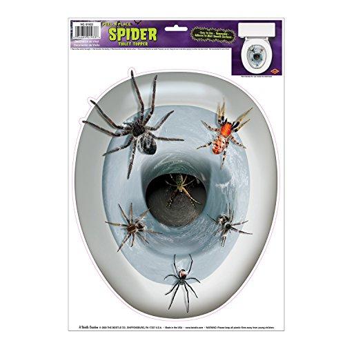 Spider Toilettendeckel Peel 'N Place Party Zubehör (1 Stück) (1 / Sh)