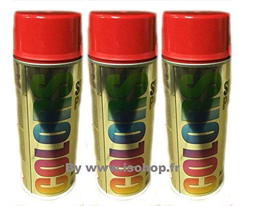Rot-aerosol (DUPLI-COLOR Aerosol-Malerei Farbton Farbe RAL 3020Rot Spray 3x 400ml)