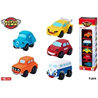 ColorBaby Color Baby - Coches BLANDITOS Motor Town Pack 5 UNDS, 43172