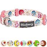 Blueberry Pet Süße Vorliebe Donut Designer Hundehalsband in Baby-Pink, M