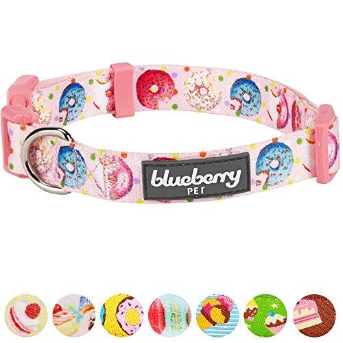 Blueberry Pet Süße Vorliebe Donut Designer Hundehalsband in Baby-Pink, S