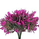 Nahuaa Künstliche Blumen 4 Stücke Kunstpflanze Decor Blumen Fuchsia für Dekoration Blumenarrangements Hochzeit Garten Hause Balkon Büro
