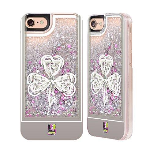 Head Case Designs La Renaissance Trèfle Celtique Étui Coque Liquide Scintillez Argent pour Apple iPhone 6 / 6s La Renaissance
