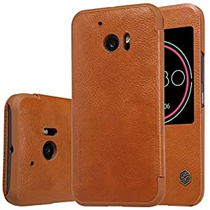 Nillkin Qin Series Quickcircle Leather Window Flip Case Cover for HTC 10 - Brown