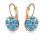 Yiwu Crystal Aqua,Blue 18k Rose Gold Met...