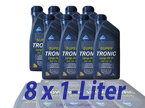 RDR Produktname: 8x 1 L Liter Aral SuperTronic Longlife III 5W-30 Super Tronic Motor-Öl...