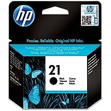 HP Cartucho negro de inyección de tinta HP 21 21 Inkjet Print Cartridges, del 5 al 95% de HR, De 15 a 35 °C, de 15 a 35°C, del 5 al 95% de HR, 131 x 37 x 141 mm, 0.06 kg (0.132 libras)