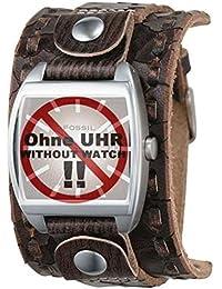 Fossil Herren-Armbanduhr JR9354 braun Lederband
