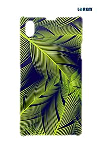 Lorem Back Cover For Sony Xperia Z1 (L39H)-Green-L29129