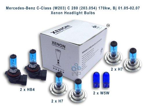 ampoules de phare de voiture d'effet de xénon HB4 H7 H7 W5W, 8-pack