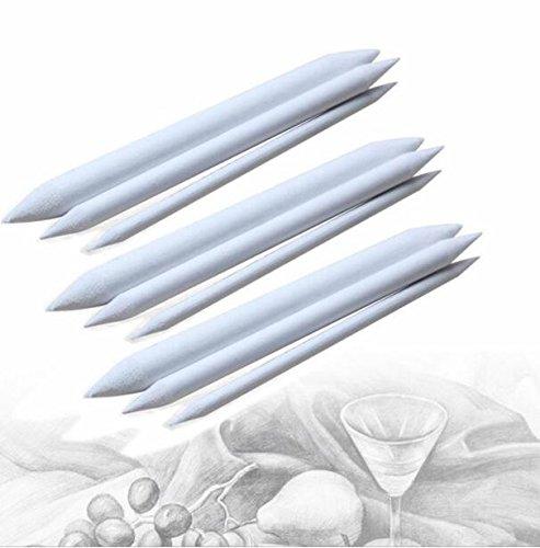 sortiert Papier Blending Stumps Set für Kunst Skizze Zeichnen 3Stück 9Schleifpapier Bleistift Spitzer für Student Sketch Zeichnen