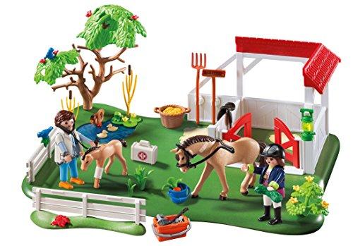 Playmobil-Prado-de-caballos-superset-61470