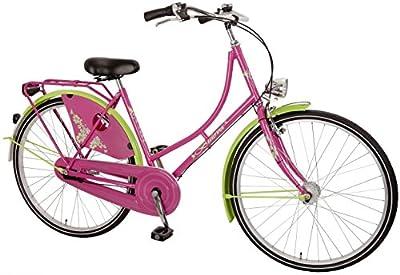 28 ' Zoll Damenrad Hollandrad Cityrad von Bachtenkirch Mädchenfahrrad 3 Gang, Farben:pink-apfel;Rahmengröße:50cm