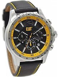 CAT Boston Men's Watch Black/Yellow Dial 44 MM Black Leather AD.143.34.137