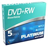 Platinum 4,7 GB DVD+RW-Rohlinge (4x Speed, 120 Min, DVD rewritable) 5er Slimcase