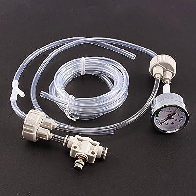 Aquarium Air Pump,Double Head Aquarium Water Plant CO2 System Heater and Pump Non-return Bubble Counter Fish Tank Tool
