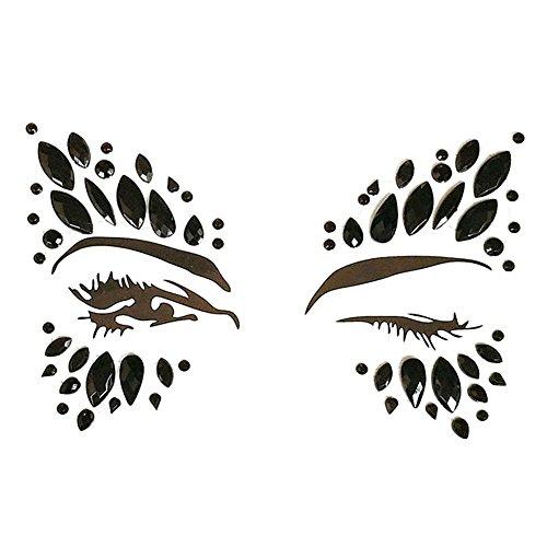(JUNERAIN Wasserdichtes Gesicht Edelsteine Adhesive Glitter Jewel Tattoo Aufkleber Party Decor (8))