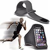 """Nokia 3 (5"""") - Einstellbare Sport-Armband Fall-Abdeckung für Laufen Jogging Radfahren Gym - Grey"""