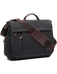 77b1a7631c4 LOSMILE Large Messenger Bag.15.6 Inch Laptop Bag, Shoulder Bag Canvas  Briefcase for Work