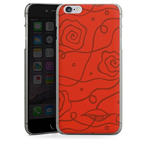 Apple iPhone X Silikon Hülle Case Schutzhülle Blumen Rosen Love Rot Hard Case anthrazit-klar
