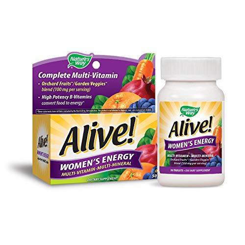 Nature's Way, Alive!, Frauen-Energie, Multivitamin · Multimineral, 50 Tabletten -