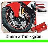 Zierstreifen Wheel-Stripes für Motorradfelgen grün 5 mm x 7 m ~~~~~ schneller Versand innerhalb 24 Stunden ~~~~~