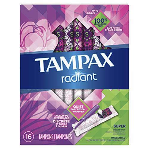 Radiant plastic Super absorbency unscented tampons 16ct (Tampon mit Applikator) USA - Tampax Radiant Tampons