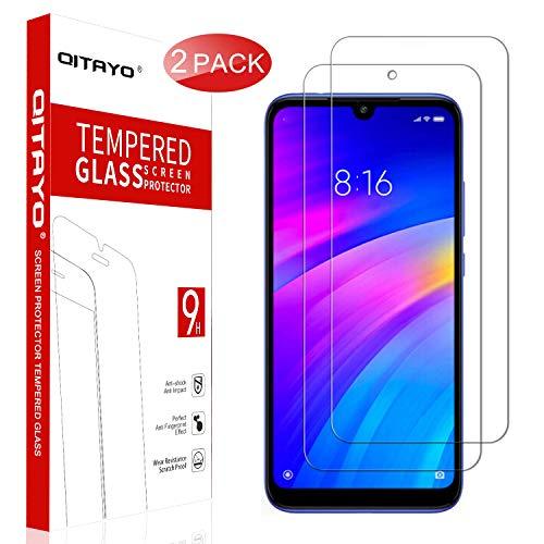 QITAYO Panzerglas Schutzfolie für Xiaomi Redmi S3/Y3[2 Stück] [2.5D Rand][Blasenfrei] [Anti vor Fingerabdruck] Xiaomi Redmi S3/Y3 Folie Glas Bildschirmschutzfolie