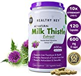 #10: Healthyhey Nutrition Milk Thistle Extract 600 Mg, 120 Vegetable Capsules
