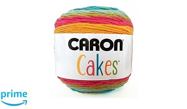 Caron Kuchen 200 g selbst Striping Aran Garn, Acryl, Rainbow Sherbet ...