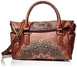 Desigual Damen Bag Tekila Sunrise Loverty Henkeltasche, Braun (Cognac), 24x9x29.5 cm