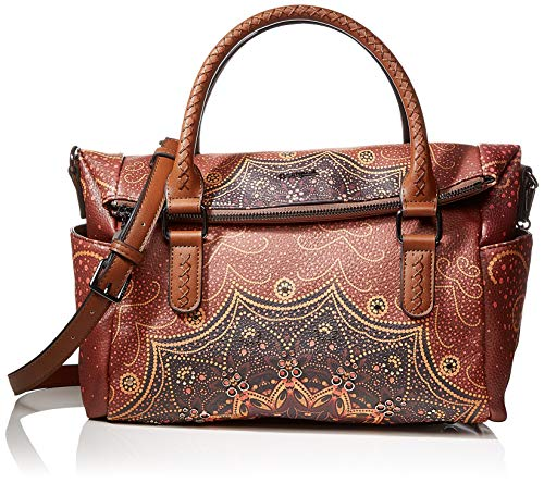 Desigual Damen Bag Tekila Sunrise Loverty Henkeltasche, Braun (Cognac), 24x9x29.5 cm
