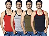 LUX Men's Cotton Vest (Pack of 4) Assorted_Large