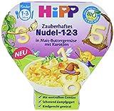 HiPP Kinder-Nudel-Spaß Zauberhaftes 1-2-3 in Mais-Buttergemüse mit Karotten, 6er Pack (6 x 250 g)