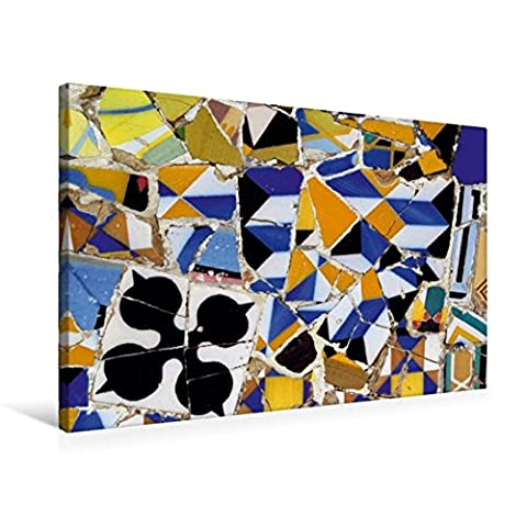 Premium Textil-Leinwand 75 cm x 50 cm quer, Mosaiken, Barcelona