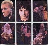 El Señor de los anillos 2 Tarjeta 6 obras completas de grabado de la tarjeta de juego de persecución del rompecabezas