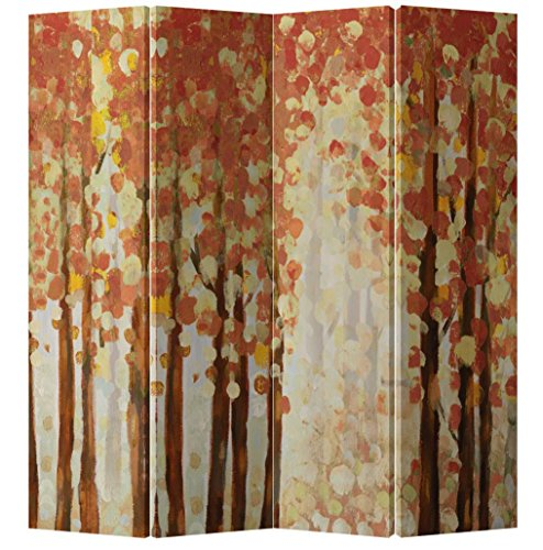 Fine Asianliving - Pantalla Plegable de 4 Paneles (180 x 160 cm), dise