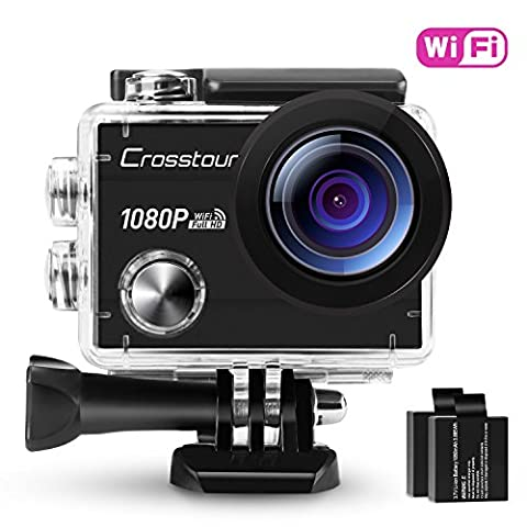 Crosstour Action Camera Waterproof Wi-Fi Full HD 1080P 12MP 2""