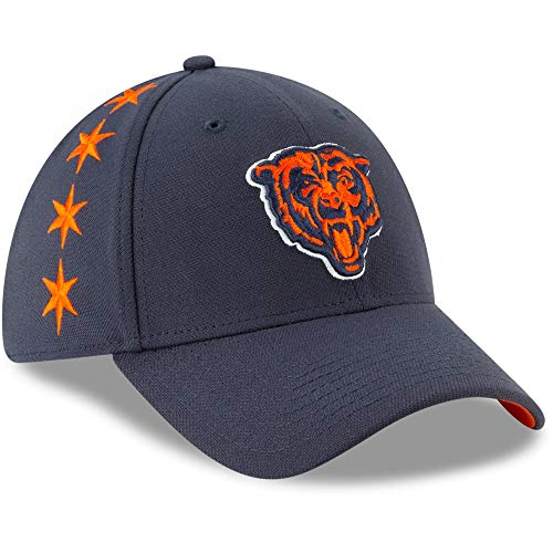 New Era Chicago Bears 39thirty Stretch Cap Nfl19 Draft Navy - M - L -