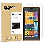Microsoft Nokia Lumia 730 /735 Protection écran, iVoler® Film Protection d'écran en Verre Trempé Glass Screen Protector Vitre Tempered pour Microsoft Nokia Lumia 730/735- Dureté 9H, Ultra-mince 0.20 mm, 2.5D Bords Arrondis- Anti-rayure, Anti-traces de d