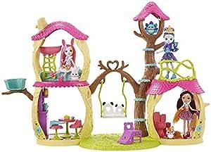 Enchantimals Casa Divertida Panda, casa de muñecas (Mattel FNM92)
