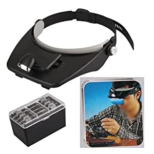 Headband Headset Led Head Lamp Light Jeweler Magnifier