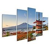 Bild Bilder auf Leinwand Fuji, Japan von der Chureito