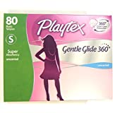 Playtex Gentle Glide 360 Unscented Tampon, Super Absorbency (80 Count)