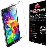 TECHGEAR® Samsung Galaxy S5 (i9600 / G900 series) GLASS Edition Genuine Tempered Glass Screen Protector Guard Cover (Galaxy S5)
